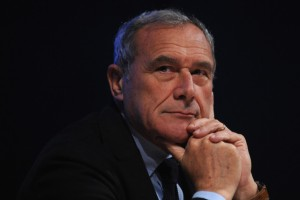 """Italy's top anti-mafia prosecutor Pietro Grasso said, """"Many times as a magistrate I brought ideas to politics, but only a few of them have been put into action."""" Photographer: Valerio Pennicino/Getty Images ."""