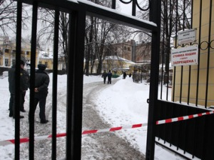 Scene of Aslan Usoyan assassination in Moscow, Russia, on January 16, 2013 (RIA Novosti / Evgeny Biyatov)