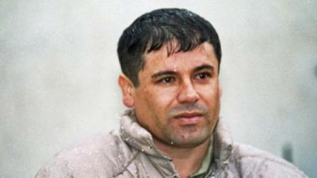 """In this file photo, Joaquin Guzman Loera, alias """"El Chapo"""" Guzman, is shown to the media after his arrest at the high security prison of Almoloya de Juarez, on the outskirts of Mexico City. ( (AP Photo/Damian Dovarganes, File))"""