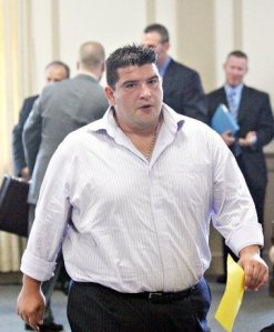 Gianni Iacavo, shown leaving a Morris County court in 2010, was arrested Wednesday on charges he burglarized several Garfield businesses since January.