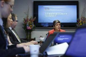 U.S. Homeland Security Secretary Napolitano sits down with reporters for the Reuters Cybersecurity Summit in Washington