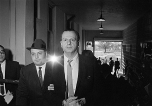 Jack Ruby, who shot and killed Lee Harvey Oswald, is shown being returned to jail after a psychiatric examination in Dallas, Tex., Jan. 28, 1964. (AP Photo/Ferd Kaufman)