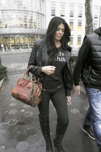 Alicia DiMichele Garofalo left Brooklyn Federal Court Friday after her husband was sent away.