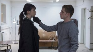 "Charlotte Gainsbourg and Jamie Bell in the movie ""Nymphomaniac."" (Magnolia Pictures / October 22, 2013)"