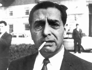 This undated photograph shows the late reputed crime boss Raymond Patriarca