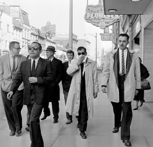 To get to Johnny (Pops) Papalia, escorted through Hamilton by plainclothes police and family members after his 1961 arrest for the beating of Toronto's gambling king Maxie Bluestein, you had to go see his long-sufering brother Frank Paplia, front left in dark glasses